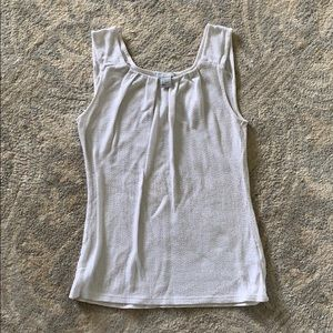 H&M Ivory White and Gold Tank